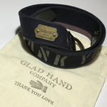 GH Co.-USA BELT THANK YOU LOVE BLACKの商品画像