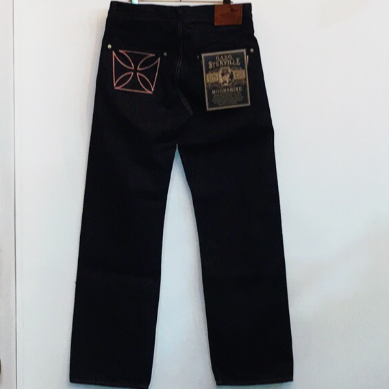 "THUG – DENIM ""IRONCROSS""/ ONE WASH / BLK / PNKの商品画像2"