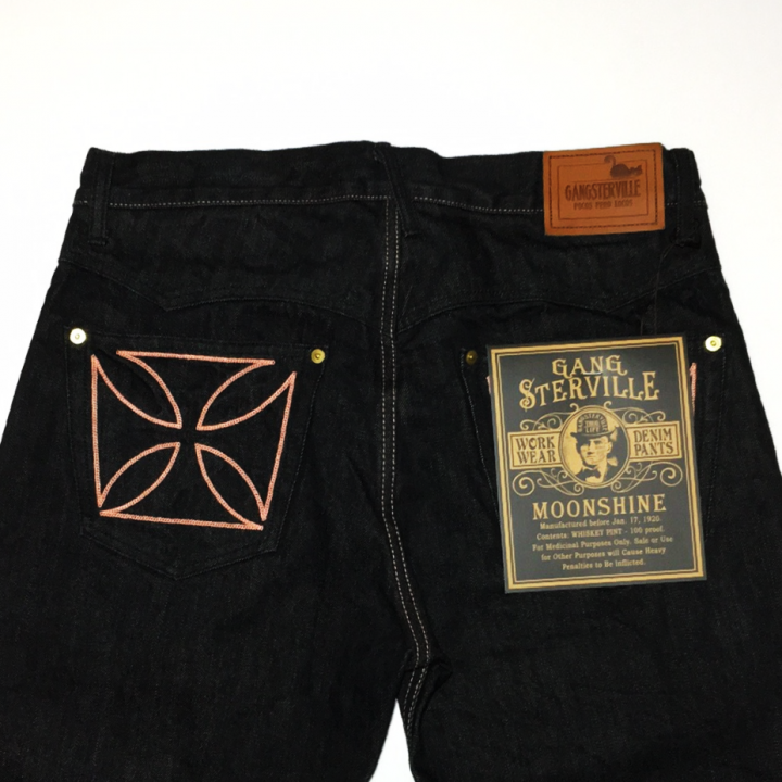 "THUG – DENIM ""IRONCROSS""/ ONE WASH / BLK / PNKの商品画像3"