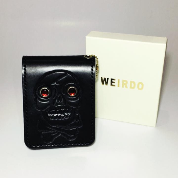 WEIRDO – SHORT WALLET / SKULL / BLACKの商品画像5