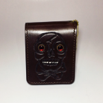 WEIRDO – SHORT WALLET / SKULL / BROWNの商品画像