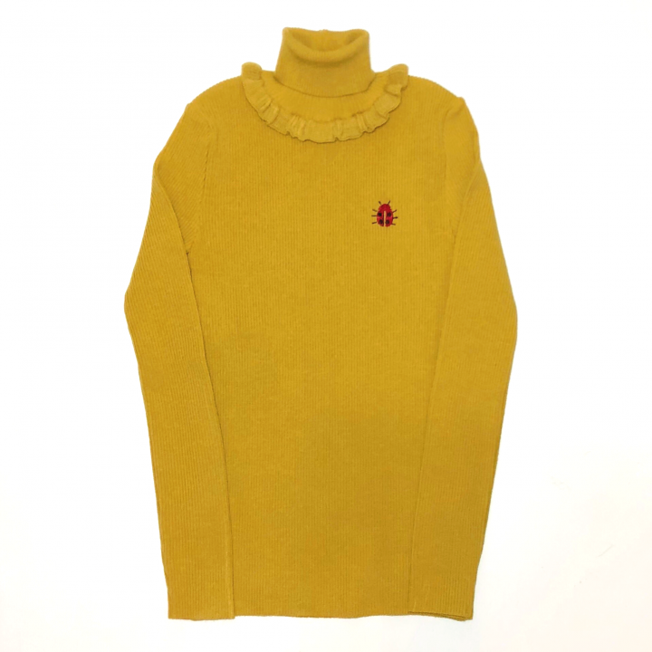GOOD LUCK FRILLED – TURTLE NECK SWEATER / MSDの商品画像1
