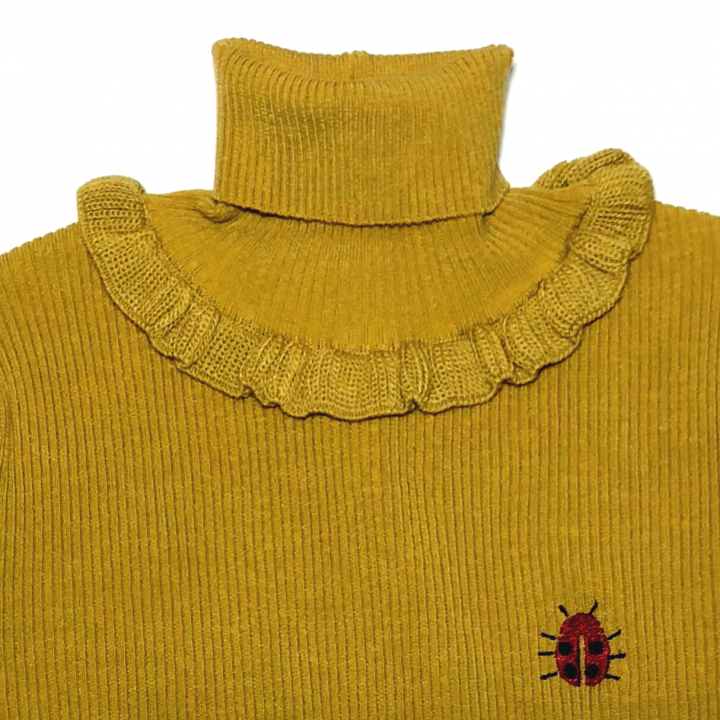 GOOD LUCK FRILLED – TURTLE NECK SWEATER / MSDの商品画像3