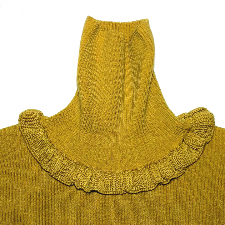 GOOD LUCK FRILLED – TURTLE NECK SWEATER / MSDの商品画像4