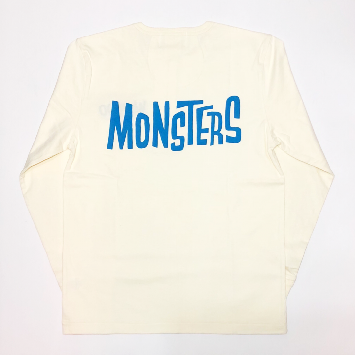 MONSTERS – L/S T-SHIRTS / WHT × BLUの商品画像1