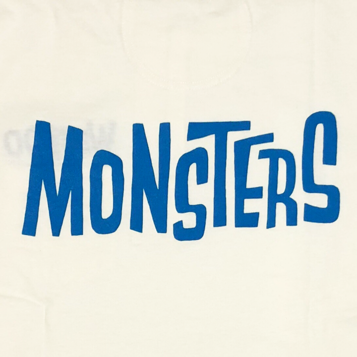 MONSTERS – L/S T-SHIRTS / WHT × BLUの商品画像5