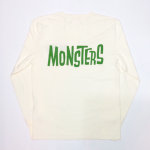 MONSTERS – L/S T-SHIRTS / WHT × GREENの商品画像