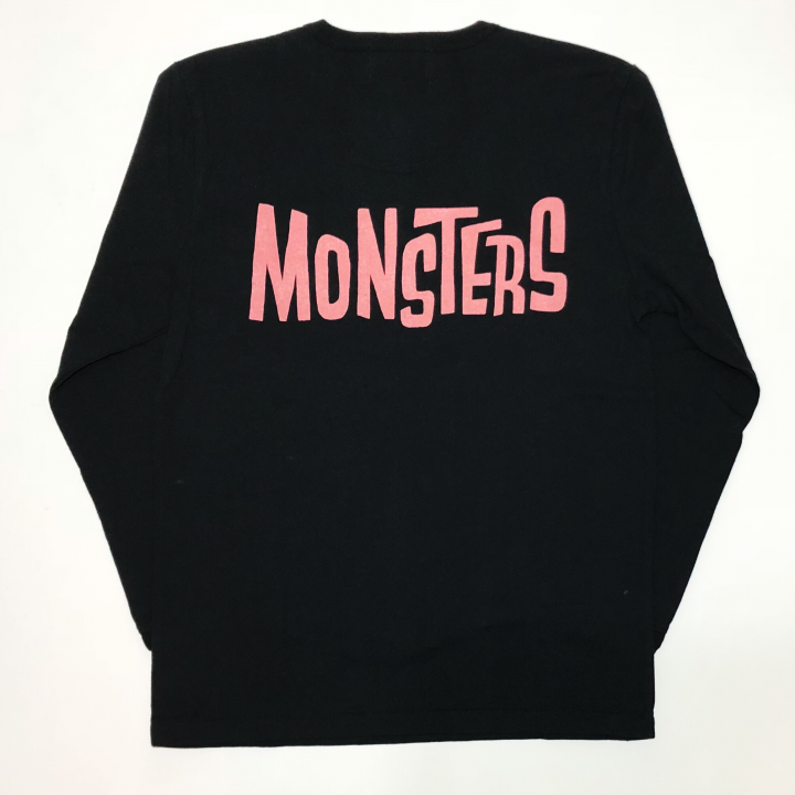 MONSTERS – L/S T-SHIRTS / BLK × REDの商品画像1