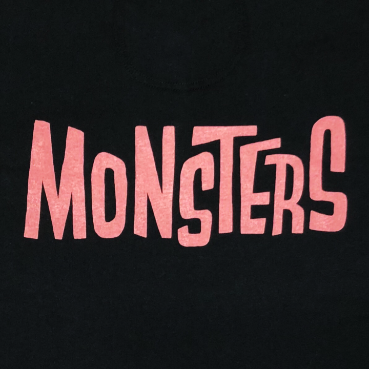 MONSTERS – L/S T-SHIRTS / BLK × REDの商品画像5