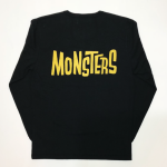 MONSTERS – L/S T-SHIRTS / BLK × YELの商品画像