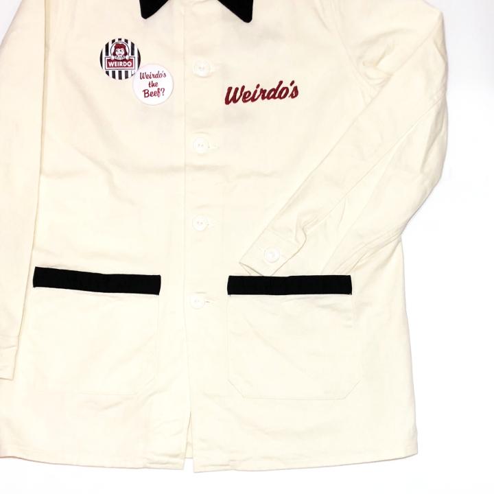 WINDY'S – SHOP COAT / IVR × BLKの商品画像4