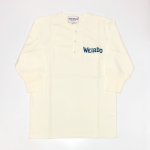WEIRDO DAILY – H/S HENRY NECK T-SHIRTS / WHITE × BLUEの商品画像