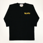 WEIRDO DAILY – H/S HENRY NECK T-SHIRTS / BLACK × YELLOWの商品画像
