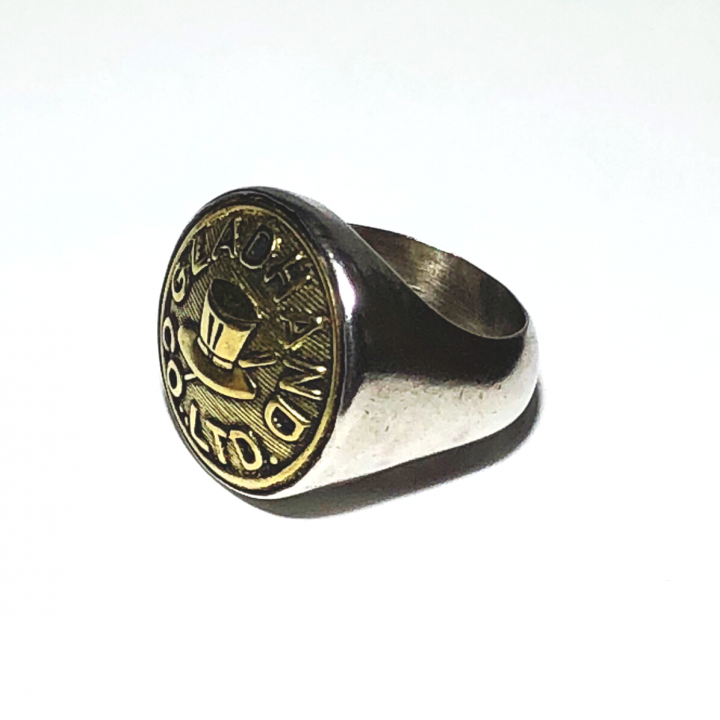 """BUTTON RING  """"HAT"""" / LARGEの商品画像2"""