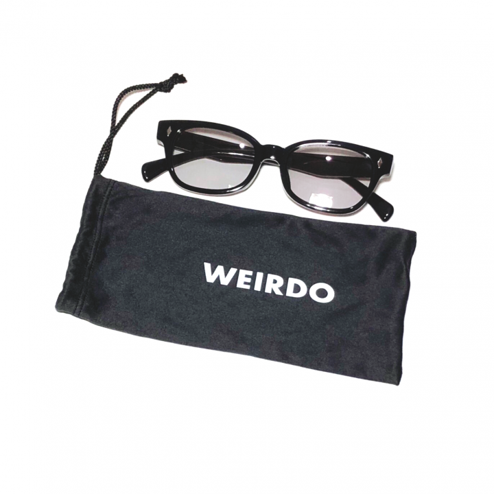 WEIRDO / FREAKY RIDERS – GLASSES / BLACK × GRAYの商品画像1