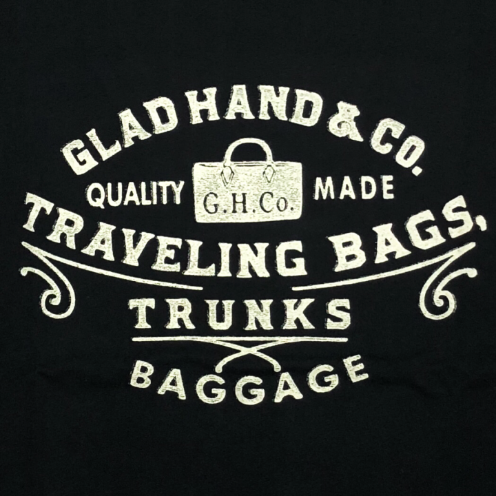 GLAD HAND / ADVERTISING BAGGAGE – T-SHIRTS / BLACKの商品画像2