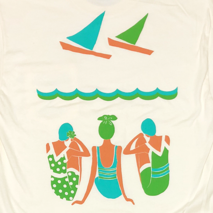 Swimmer Back print Front Pocket Teeの商品画像3