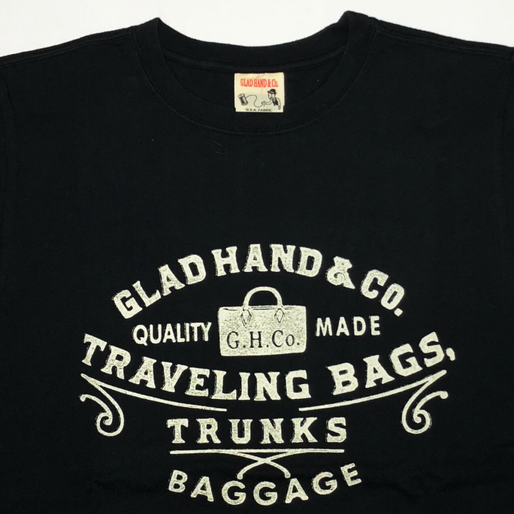 GLAD HAND / ADVERTISING BAGGAGE – T-SHIRTS / BLACKの商品画像3