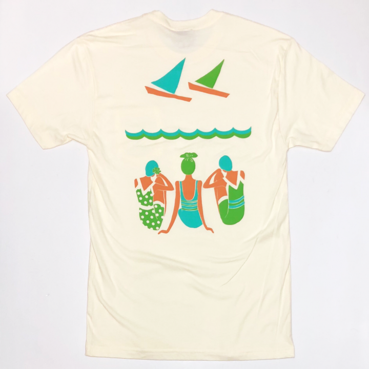 Swimmer Back print Front Pocket Teeの商品画像2