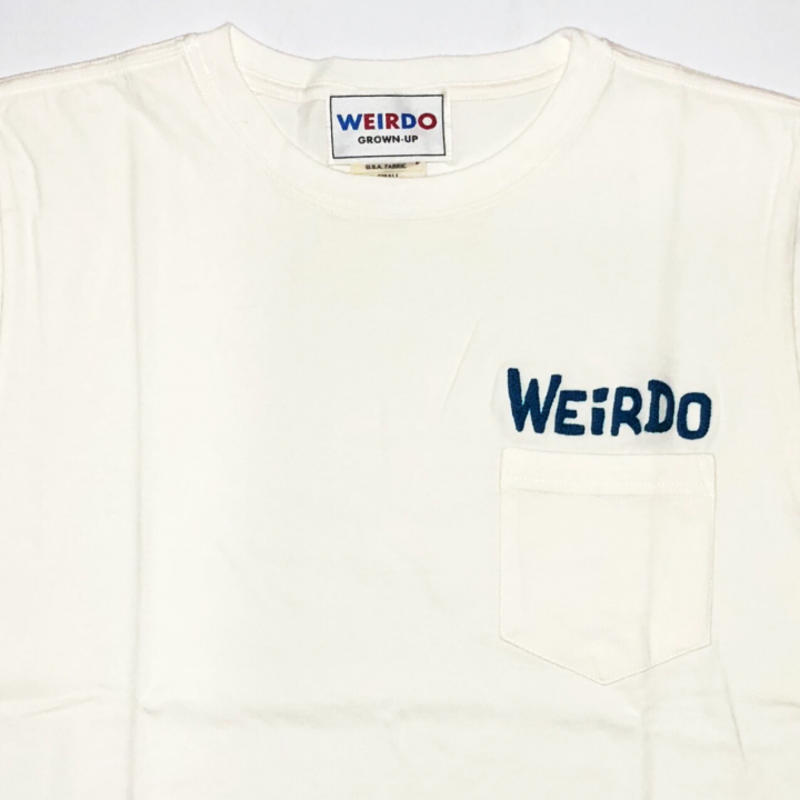 WEIRDO DAILY – S/S T-SHIRTS / WHITE × BLUEの商品画像2