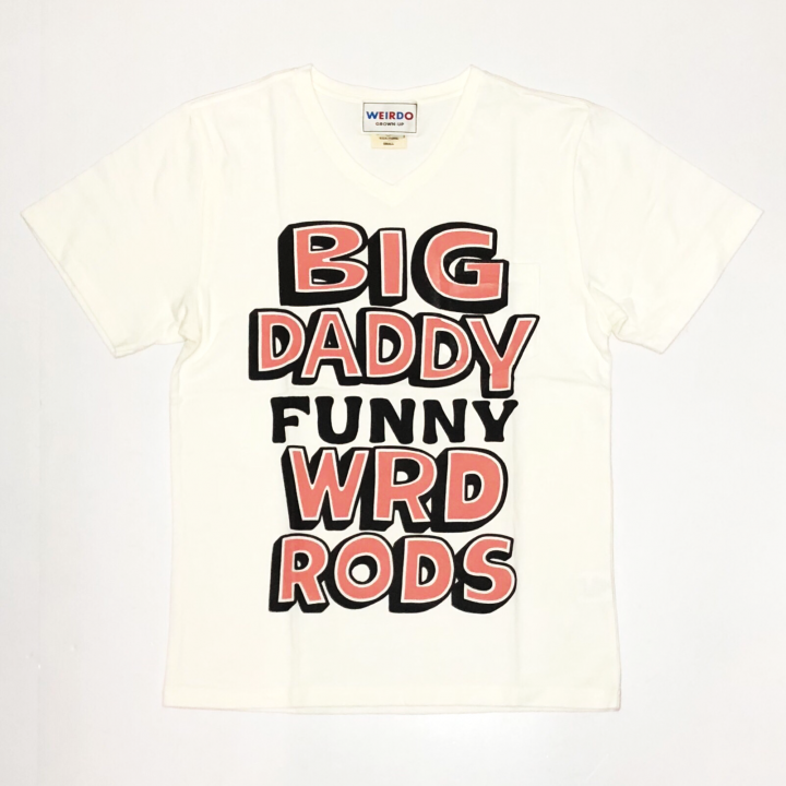 BIG DADDY – S/S V NECK T-SHIRTS / WHTの商品画像1