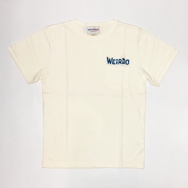 WEIRDO DAILY – S/S T-SHIRTS / WHITE × BLUEの商品画像1