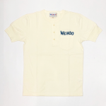 WEIRDO DAILY – S/S HENRY NECK T-SHIRTS / WHITE × BLUEの商品画像