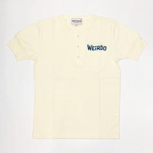 WEIRDO DAILY – S/S HENRY NECK T-SHIRTS / WHITE × BLUEの商品画像