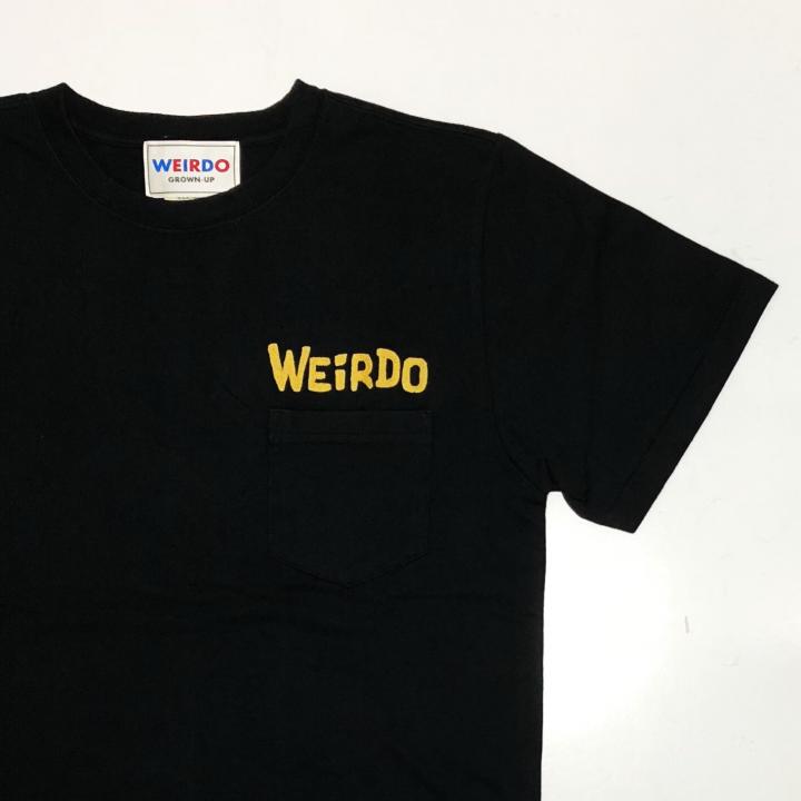 WEIRDO DAILY – S/S T-SHIRTS / BLACK × YELLOWの商品画像3
