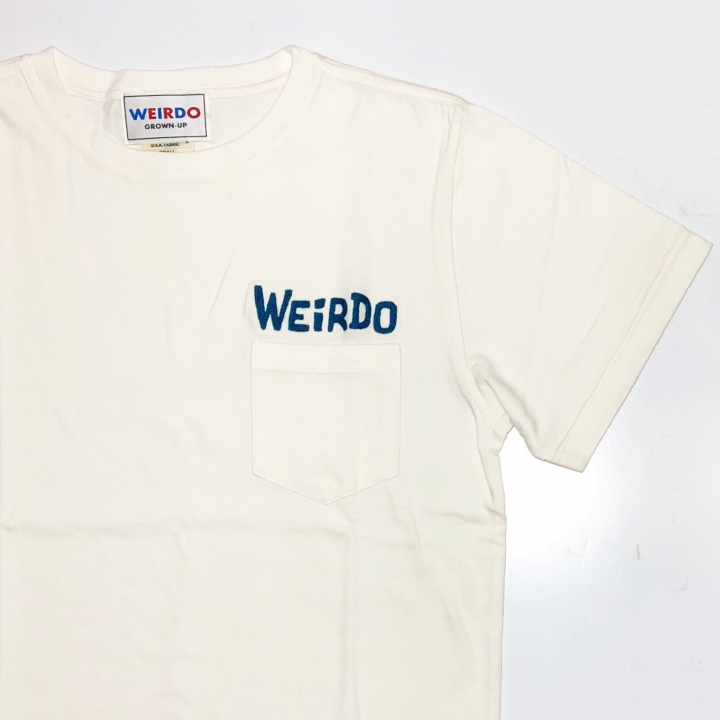 WEIRDO DAILY – S/S T-SHIRTS / WHITE × BLUEの商品画像3