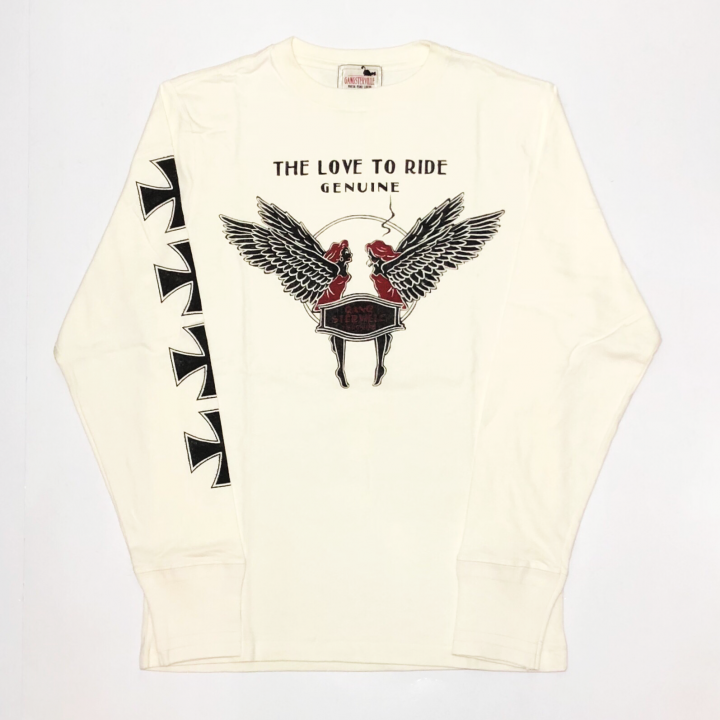 LOVE TO RIDE – L/S T-SHIRTS / WHITEの商品画像5
