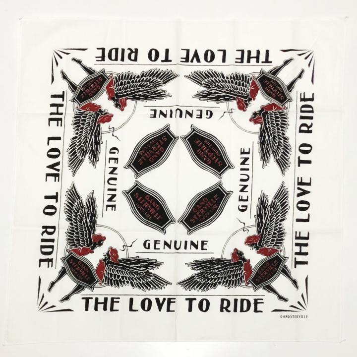 LOVE TO RIDE – BANDANA / WHITEの商品画像1