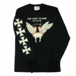 LOVE TO RIDE – L/S T-SHIRTS / BLACKの商品画像