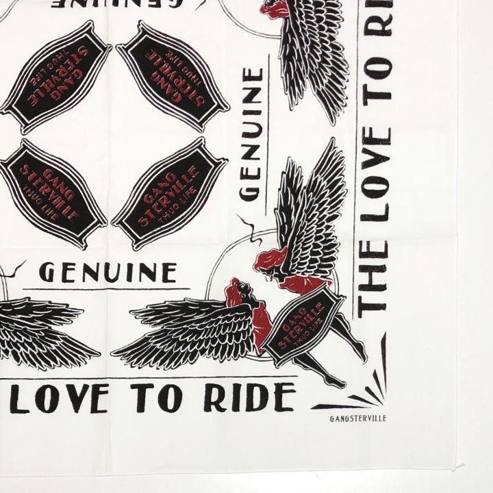 LOVE TO RIDE – BANDANA / WHITEの商品画像2