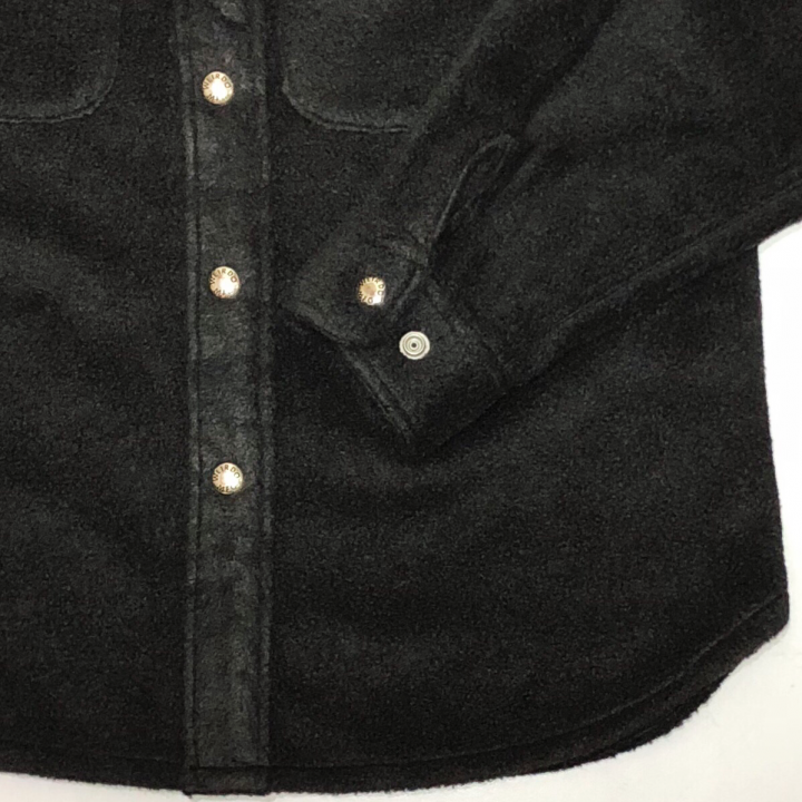 FLUFFY – FLEECE L/S SHIRTS / BLACKの商品画像4