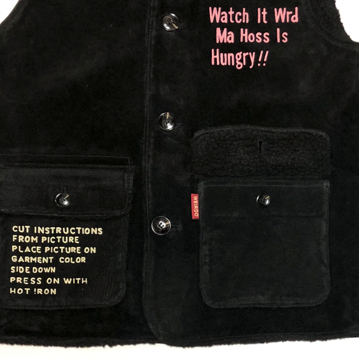 "WEIRDOLIGHT RANCH – VEST ""HOG SKIN"" / BLACKの商品画像4"