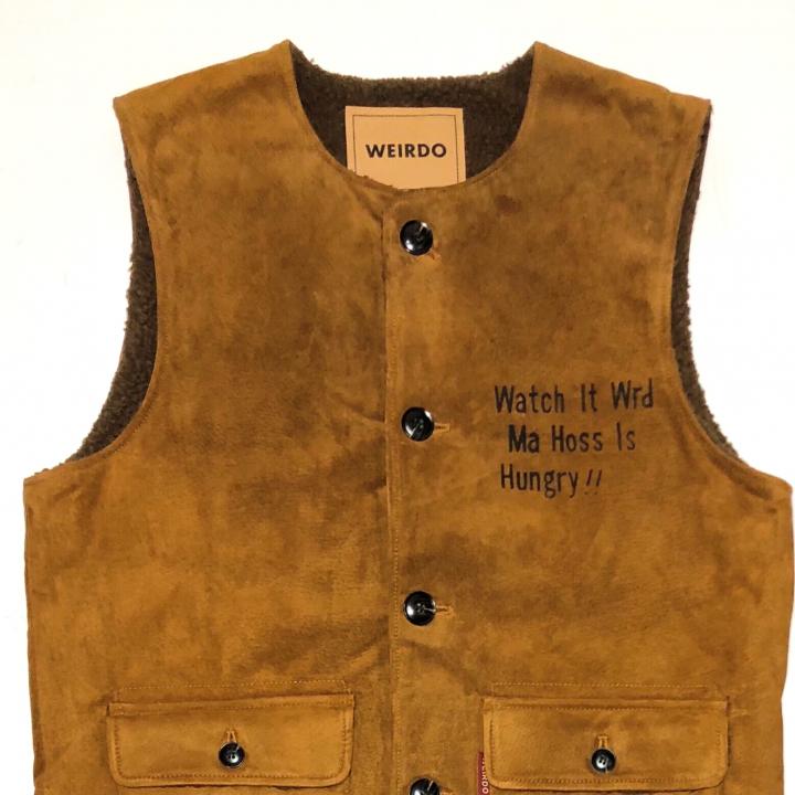 "WEIRDOLIGHT RANCH – VEST ""HOG SKIN"" / BR0WNの商品画像3"