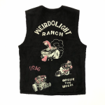 "WEIRDOLIGHT RANCH – VEST ""HOG SKIN"" / BLACKの商品画像"