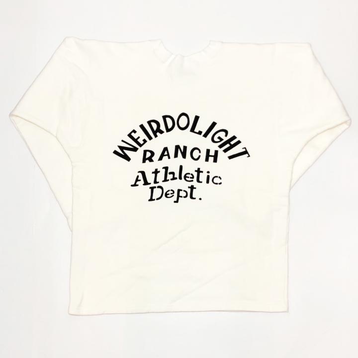 WEIRDOLIGHT RANCH – FOOTBALL SWEAT / WHITEの商品画像2