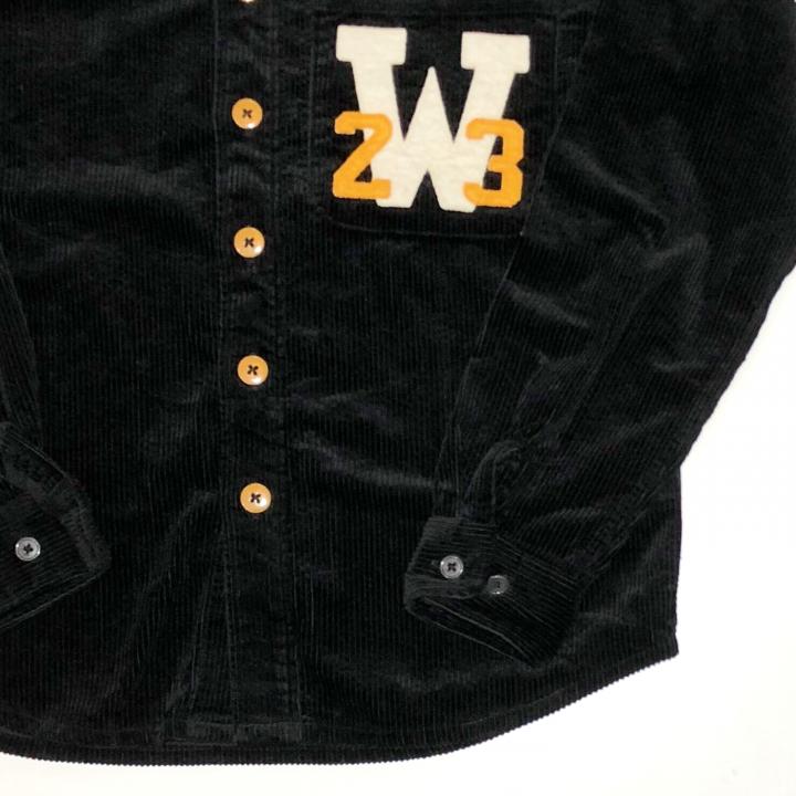 W COLLEGE L/S SHIRTS / BLACKの商品画像4