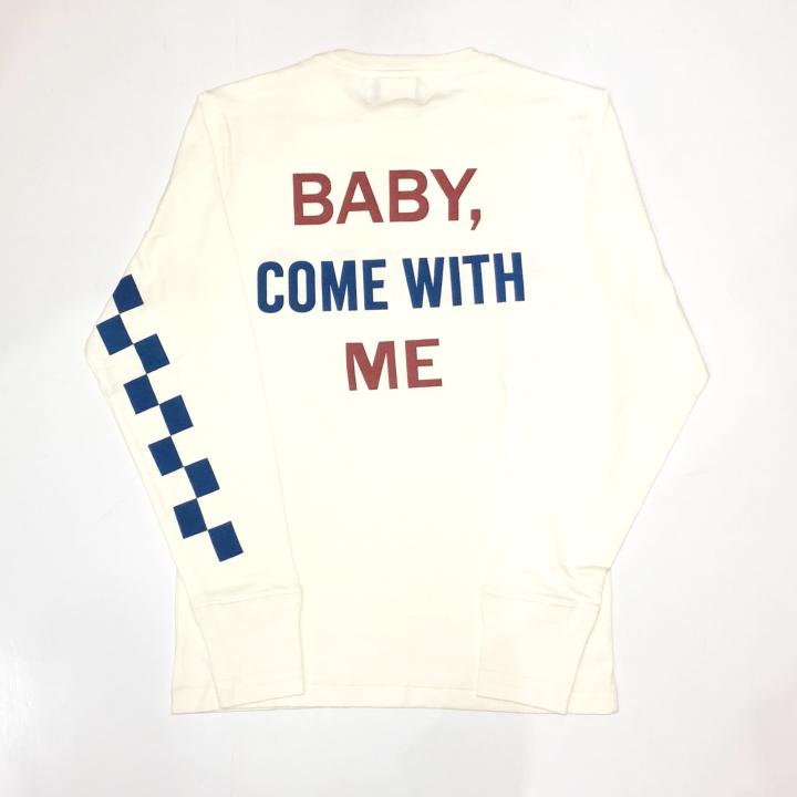 BABY PINBACK – L/S T-SHIRTS / WHITEの商品画像2