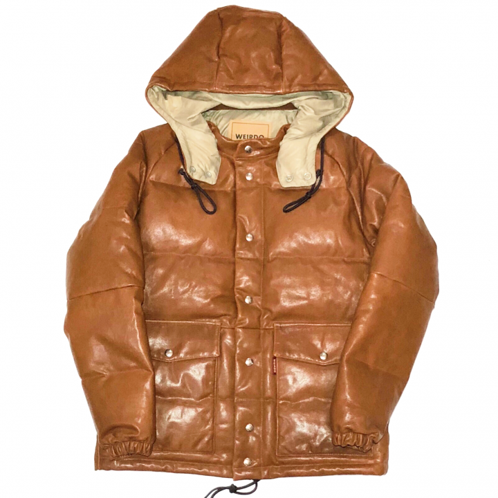 "GROWN UP – DOWN JACKET ""GOAT SKIN"" / BROWNの商品画像1"