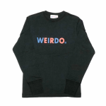 WEIRDO – L/S T-SHIRTS / BLACKの商品画像