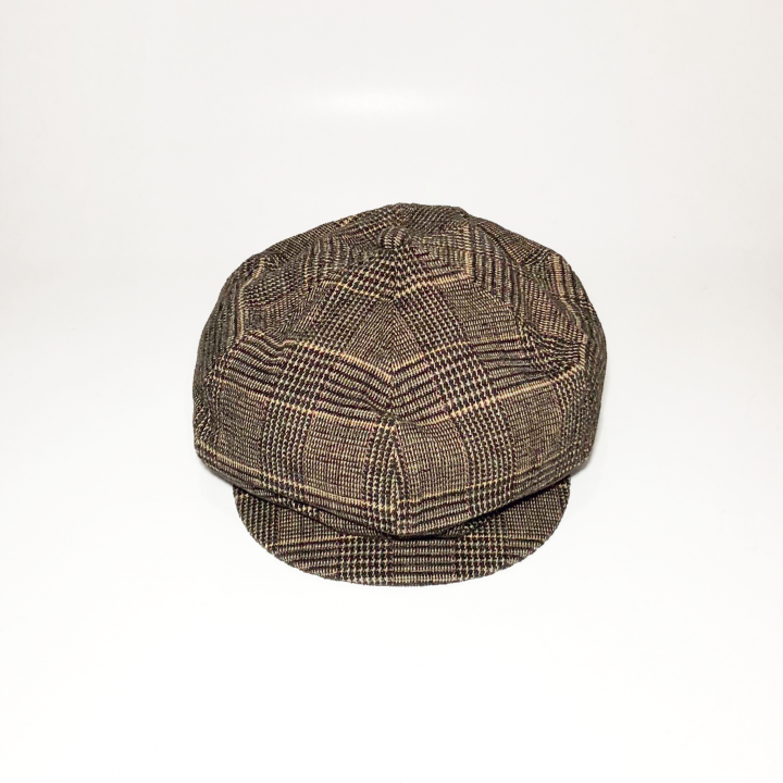 GROWN UP – CHECK CASQUETTE / BROWNの商品画像2