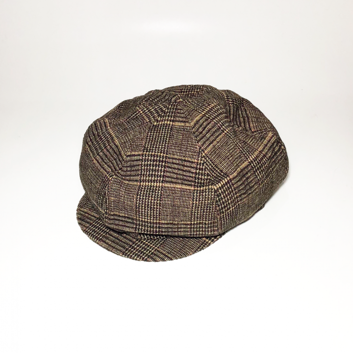 GROWN UP – CHECK CASQUETTE / BROWNの商品画像1