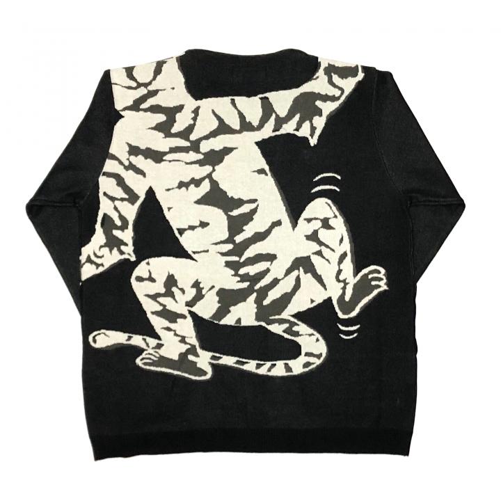 RINGING TIGER – L/S KNIT CARDIGAN / BLACKの商品画像2