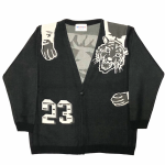RINGING TIGER – L/S KNIT CARDIGAN / BLACKの商品画像