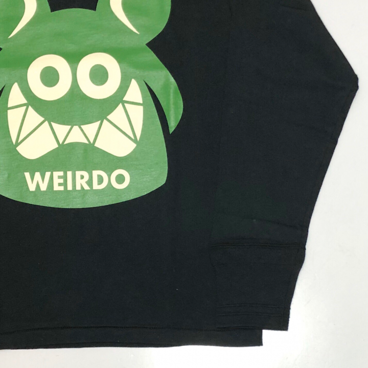 WEIRDO FINK – L/S T-SHIRTS / BLACK × GREENの商品画像2