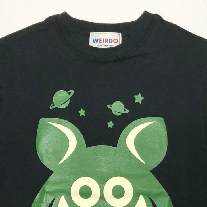 WEIRDO FINK – L/S T-SHIRTS / BLACK × GREENの商品画像3
