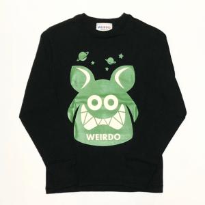 WEIRDO FINK – L/S T-SHIRTS / BLACK × GREENの商品画像